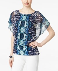 Styleandco. Style And Co. Printed Flutter Sleeve Blouse Only At Macy's Boho Charm