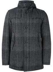 Herno Glencheck Down Coat Black