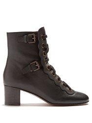 Chloe Orson Lace Up Ankle Boots Black