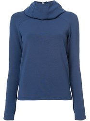 Paco Rabanne Back To Front Style Hoodie Blue