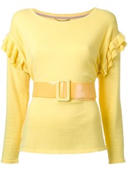 Muveil Belted Jumper Yellow Orange
