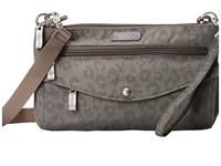Baggallini Plaza Mini Pewter Cheetah Cross Body Handbags