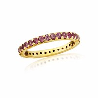 Maiko Nagayama Garnet Eternity Midi Ring Red Gold