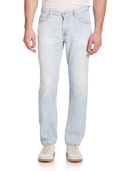 Ag Jeans Graduate Tailored Fit Sueded Cotton Jeans 23 Years Barracuda