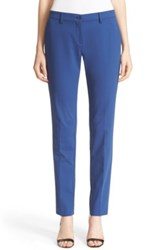 Etro Stretch Cotton Skinny Pants Blue