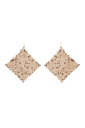 Forever 21 Chainmail Drop Earrings Gold