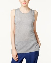 Dkny High Low Tank Top Pale Heather Gray