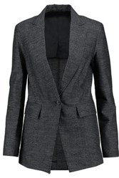 3.1 Phillip Lim Wool And Linen Blend Blazer Midnight Blue