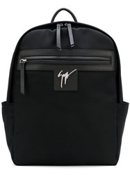 447dc4e68527d Giuseppe Zanotti Design Randy Backpack Men Leather Polyester One Size Black