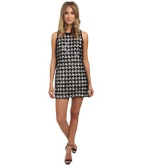 Rachel Zoe Zadie Houndstooth Lace Sequin Dress Black White Women's Dress