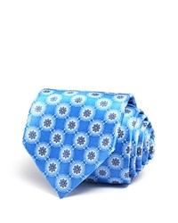 Bloomingdale's The Men's Store At Flower Medallion Classic Tie Blue