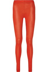 Maison Martin Margiela Stretch Modal Jersey Leggings Red