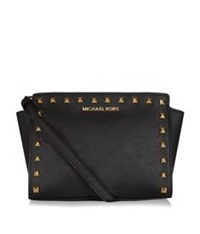 Michael Michael Kors Selma Studded Messenger Bag Black