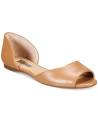 Inc International Concepts Women's Elsah D'orsay Peep Toe Flats Only At Macy's Women's Shoes Sable