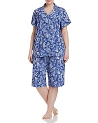 Ralph Lauren Plus Short Sleeve Bermuda Pajama Set Blue