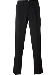 Borrelli Pleated Detailing Tailored Trousers Black