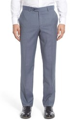 Men's Nordstrom Men's Shop Flat Front Solid Wool Trousers