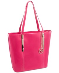 Mcklein Cristina Leather Tote Fuchsia