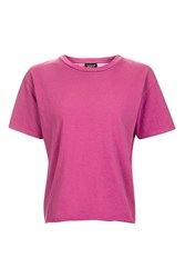 Topshop Tall Nibbled Tee Magenta