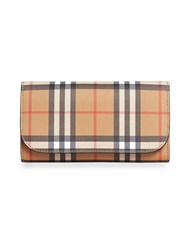 Burberry Vintage Check Continental Wallet And Pouch Nude And Neutrals
