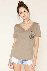 Forever 21 Nyc Graphic Pocket Tee