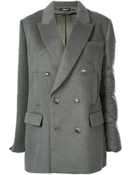 Undercover Contrast Double Breasted Blazer 60