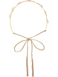 Jennifer Behr Georgia Circlet Headband 18Kt Yellow Gold Metallic