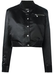 Versus Cropped Bomber Jacket Black