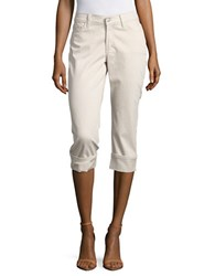 Nydj Petite Five Pocket Capri Pants Clay