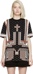 Givenchy Black And Brown Cross T Shirt