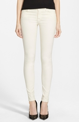 7 For All Mankind Brushed Sateen Skinny Pants Winter White