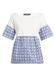 Weekend Max Mara Hobby Top Blue White