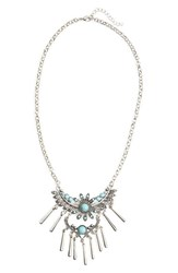 Junior Women's Rove Pearl Stone And Fringe Statement Necklace