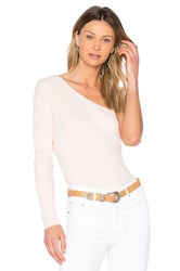 Central Park West Bel Air One Shoulder Sweater Blush