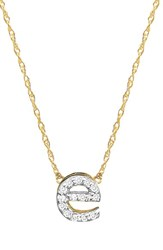 Jane Basch Designs Women's Jane Basch Diamond Initial Pendant Necklace Gold E