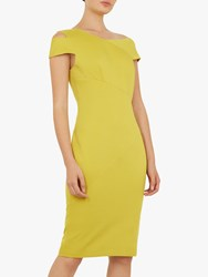 Ted Baker Aspyn Tailored Bodycon Dress Yellow