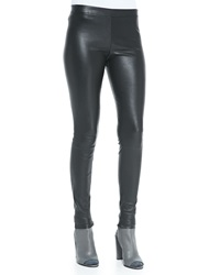 Vince Smooth Leather Leggings Black