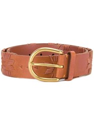 Polo Ralph Lauren Stylised Trim Belt Brown