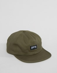 Brixton Langley Cap With Adjustable Strap Green