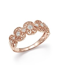 Bloomingdale's Diamond Band Ring In 14K Rose Gold .25 Ct. T.W.