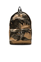 Off White Banana Leaf Backpack Tan