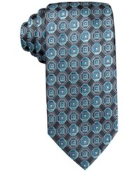 John Ashford Scott Medallion Tie Only At Macy's Aqua