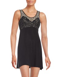 Jessica Simpson Only You Lace Accented Chemise Black
