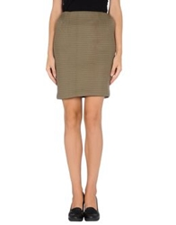 Jonathan Saunders Knee Length Skirts Khaki