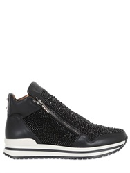 Alexander Smith 30Mm Rhinestone Suede High Top Sneakers