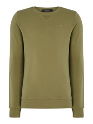 Scotch And Soda Men's Classic Garment Dyed Sweat Green