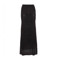 Roberto Cavalli Floor Length Crochet Skirt Nero