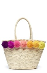 Sole Society Straw Tote Beige Natural