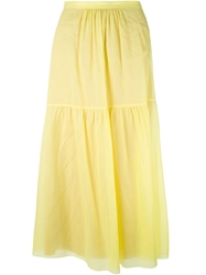Philosophy Di Alberta Ferretti High Waist Maxi Skirt Yellow And Orange