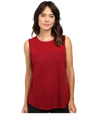 Sanctuary Essential Shell T Shirt Cabernet Women's T Shirt Burgundy
